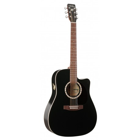Guitarra acustica art lutherie black qi cw musical for Luthier guitarra electrica