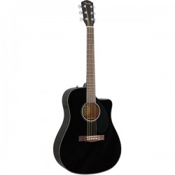 GUITARRA ACUSTICA FENDER CD60SCE BLK