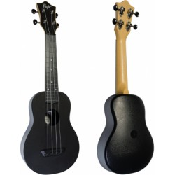 Ukelele Soprano Flight TUS-35BK Travel Negro